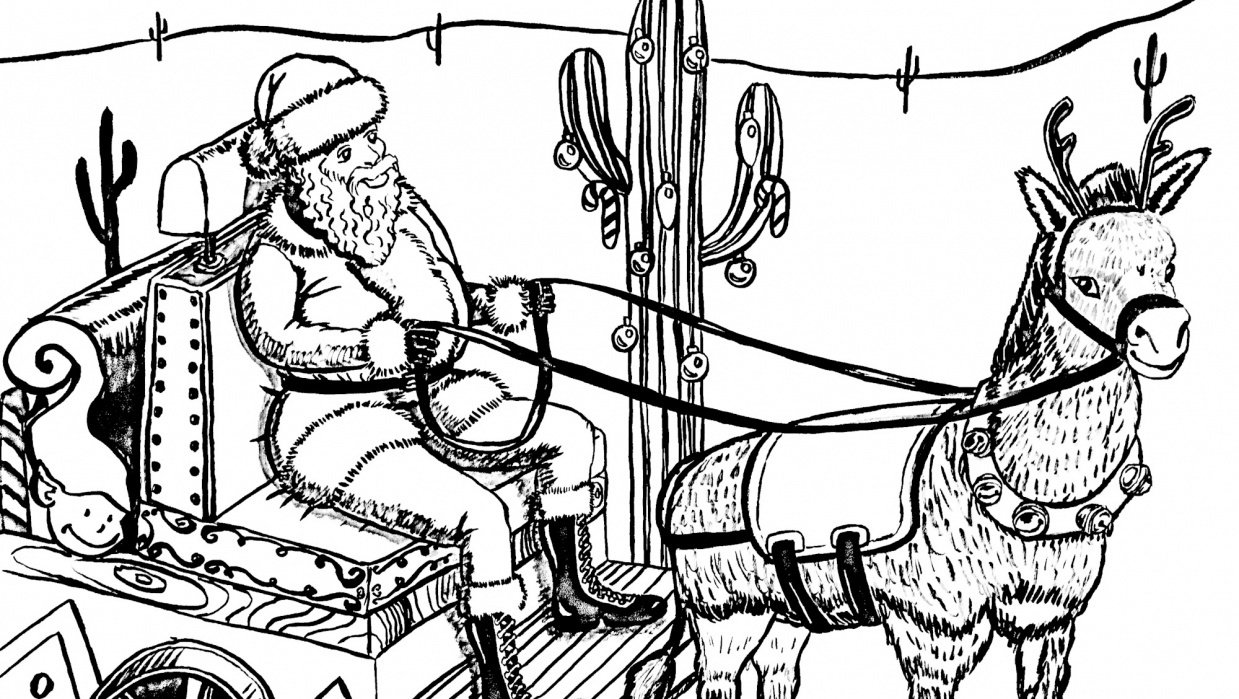Southwest Santa Sleigh Ride - student project