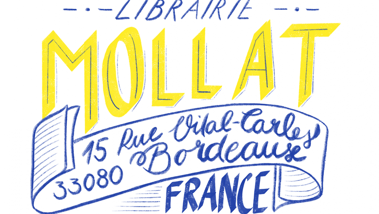 French Library - a hand lettering project - student project