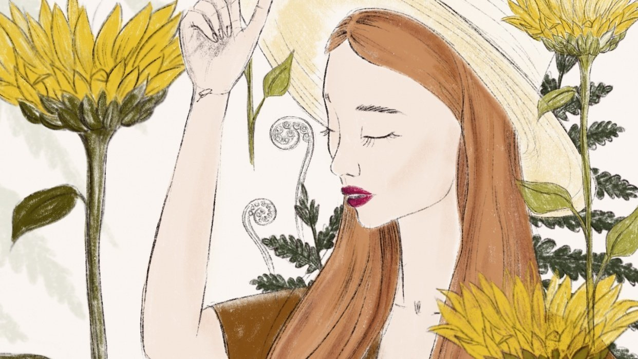 Sunflowers girl - student project