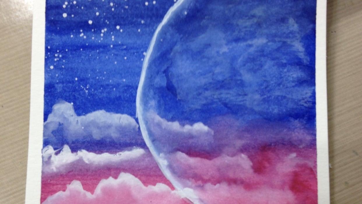 Luminous moon I - student project