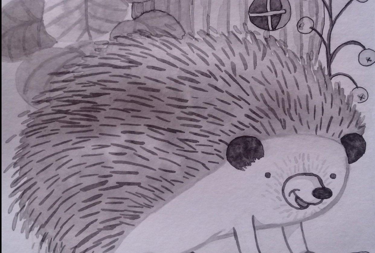 Erizo simpático (Friendly hedgehog) - student project