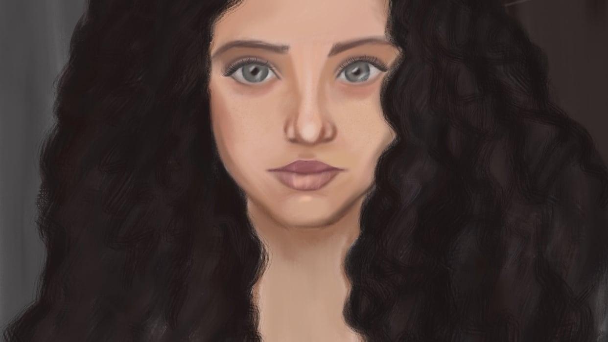 Portrait painting - student project