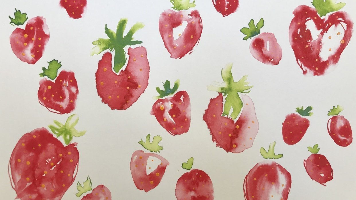 Strawberry Doodle - student project