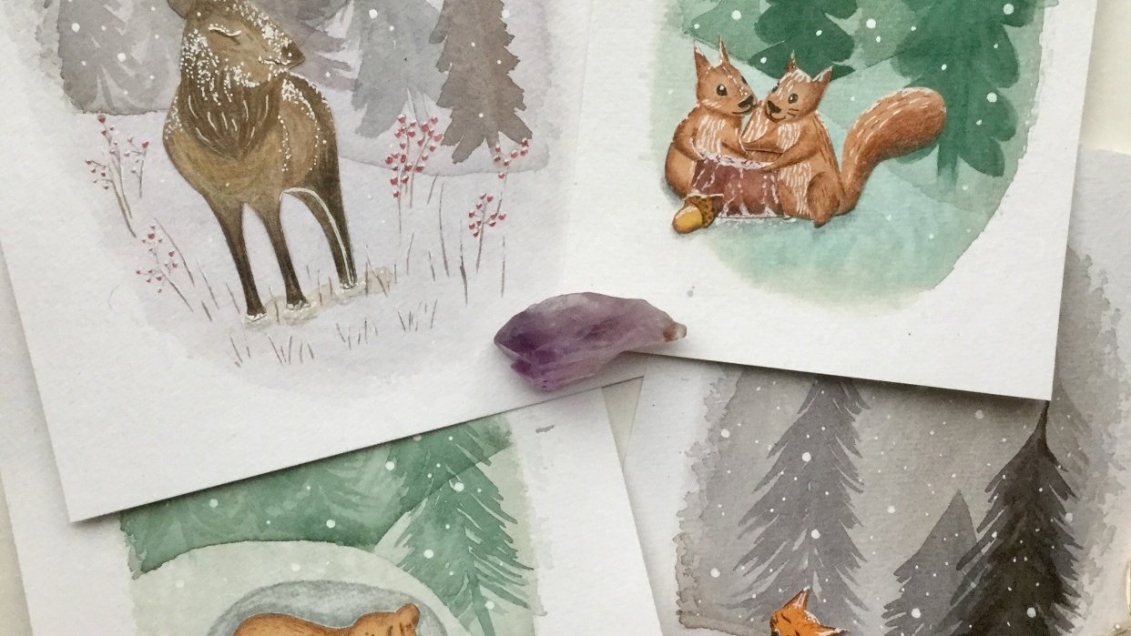 Animals and winter - student project