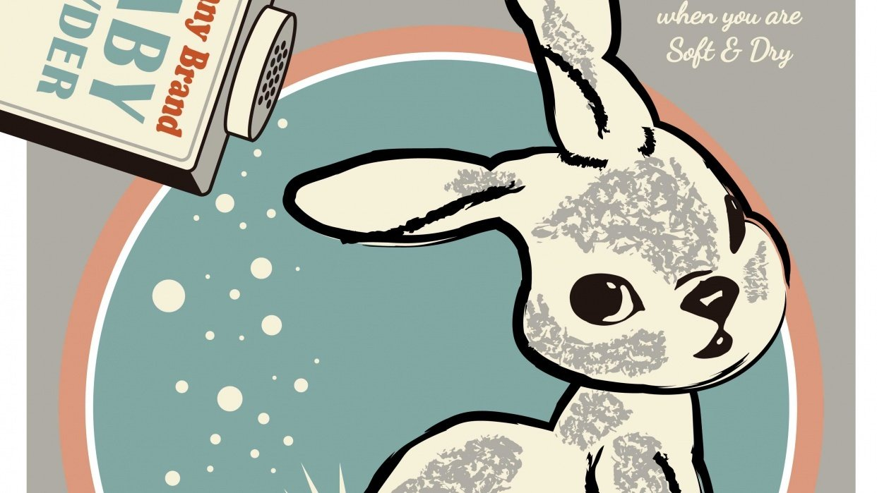 Bunny Brand vintage ad - student project