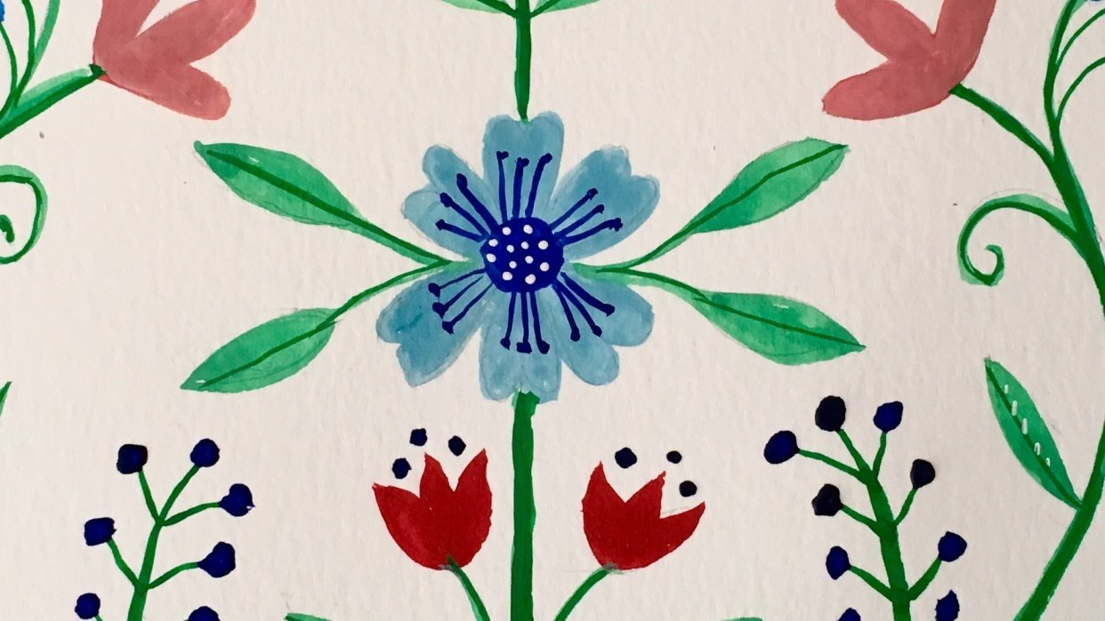 Symmetrical Floral - student project