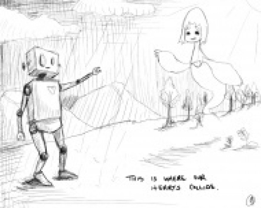 A Love Story Between Robot and Ghost - student project