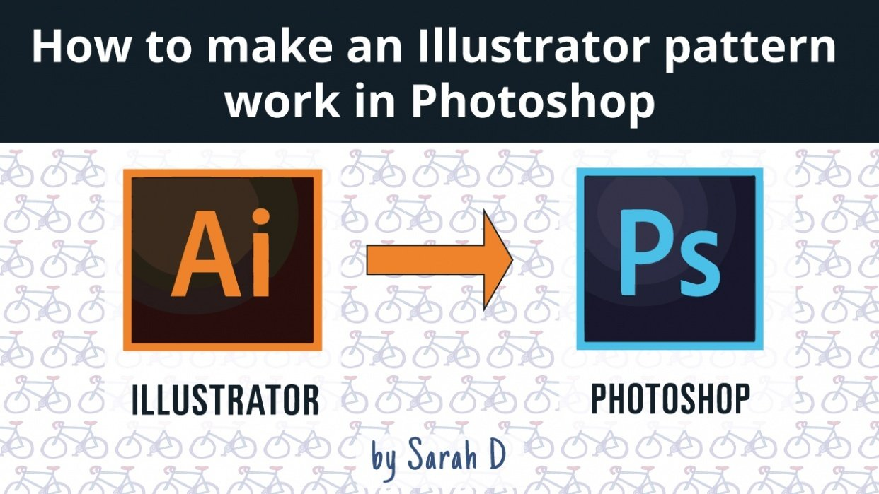 How to make an Illustrator pattern work in Photoshop - student project