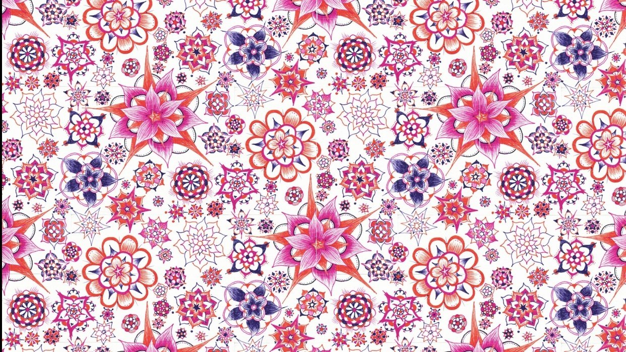 Abstract Flower Wallpaper - student project