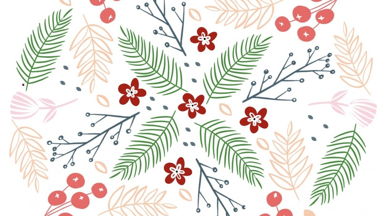 Modern Floral Mandala - student project