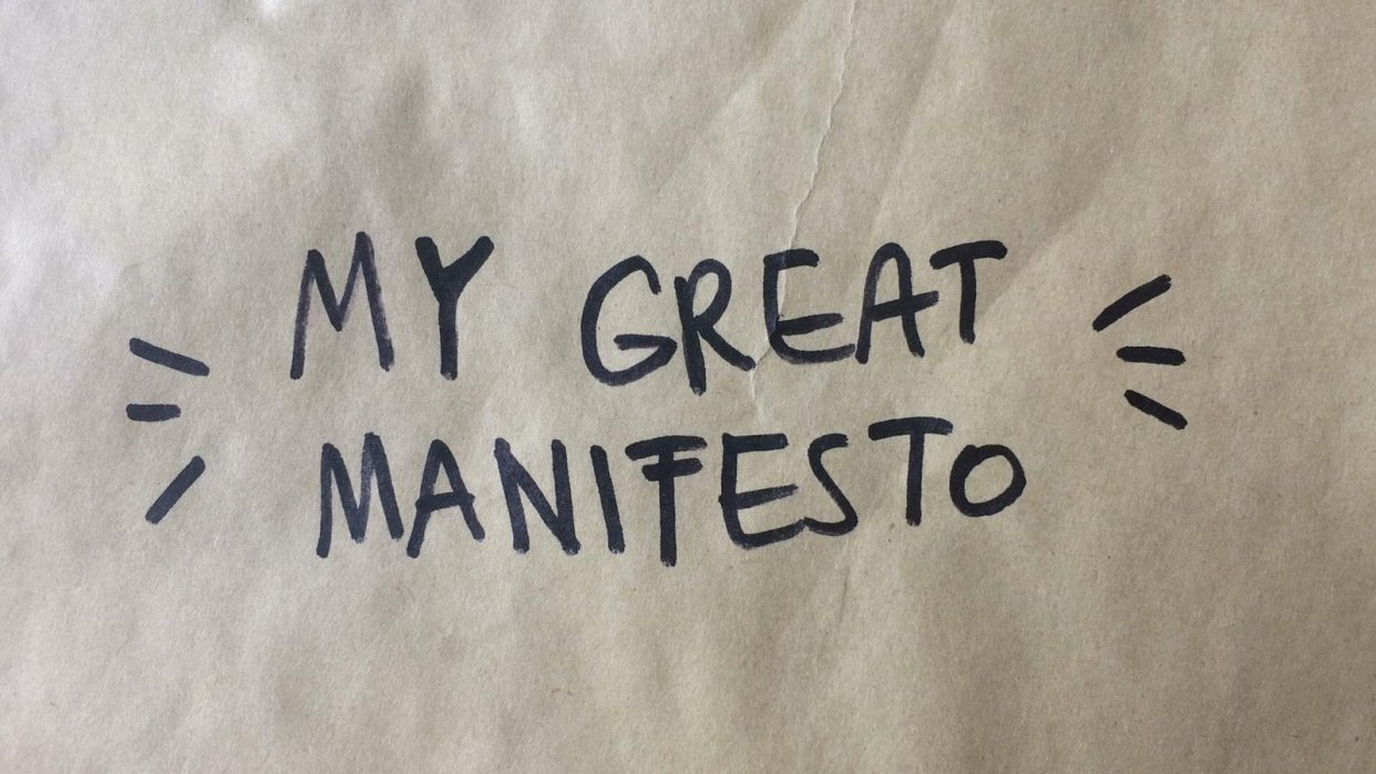 My great manifesto! - student project