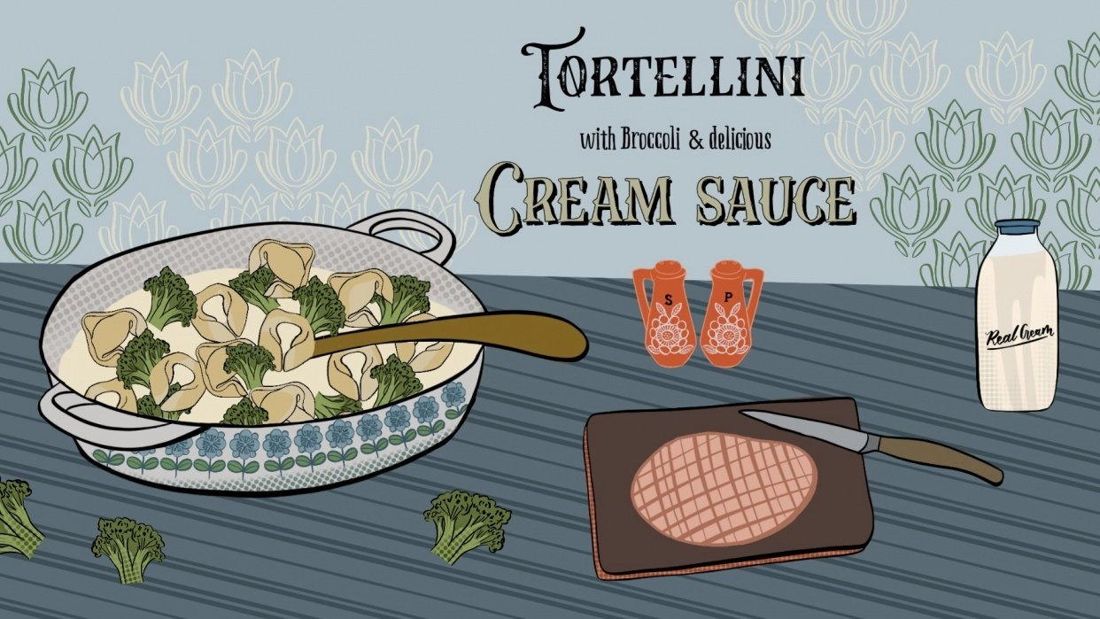 Tortellini with Cream Sauce - student project