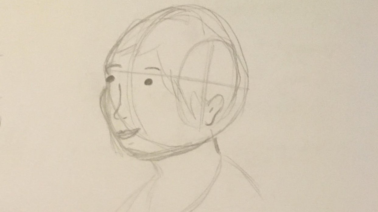 The head from different angles - student project