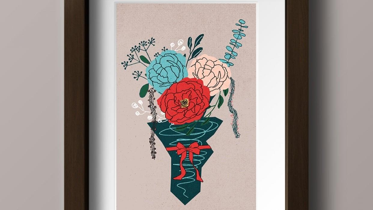 An English Garden Bouquet - student project
