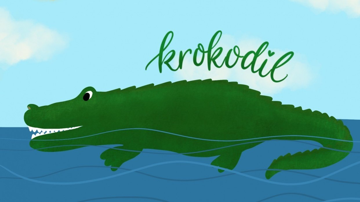 Barky Brush on Crocodile - student project