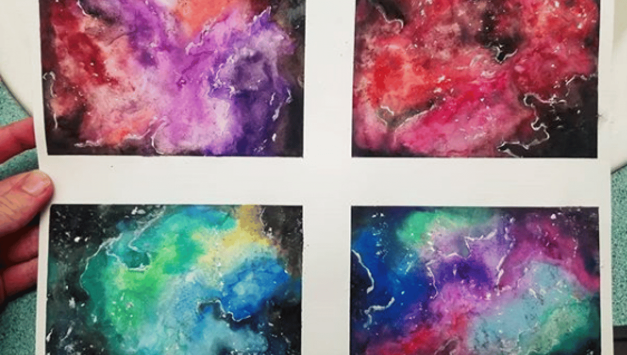 Water Color Galaxies! - student project