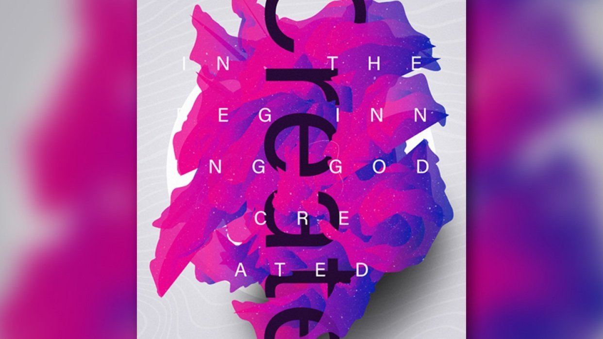 In the Beginning God Created Poster - student project