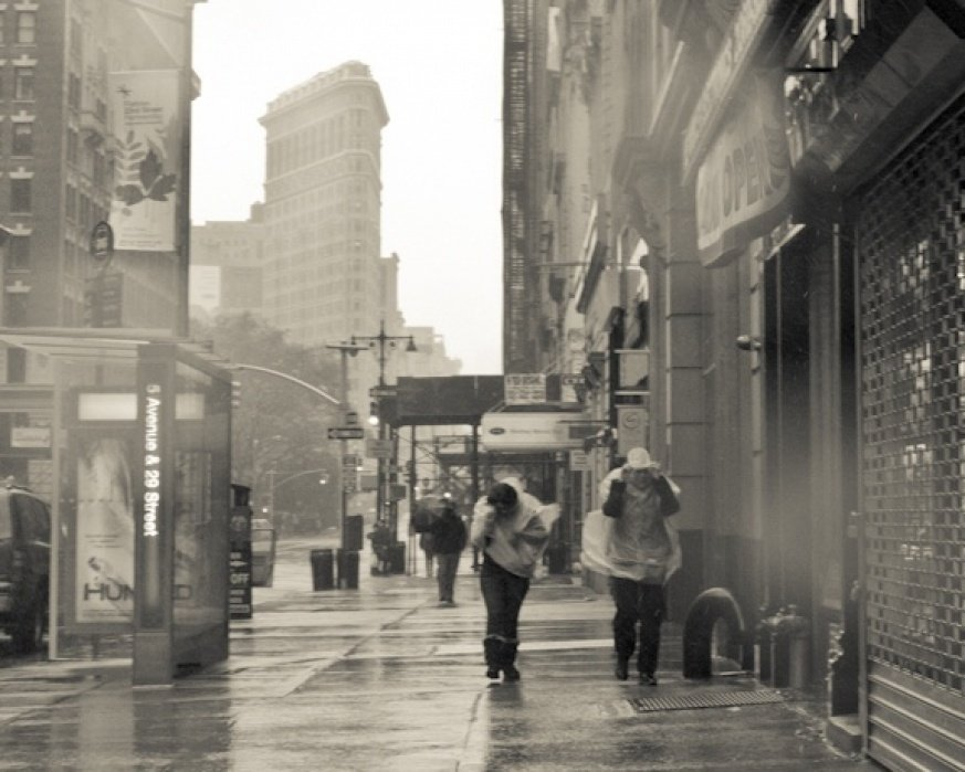 ny streets during sandy - student project