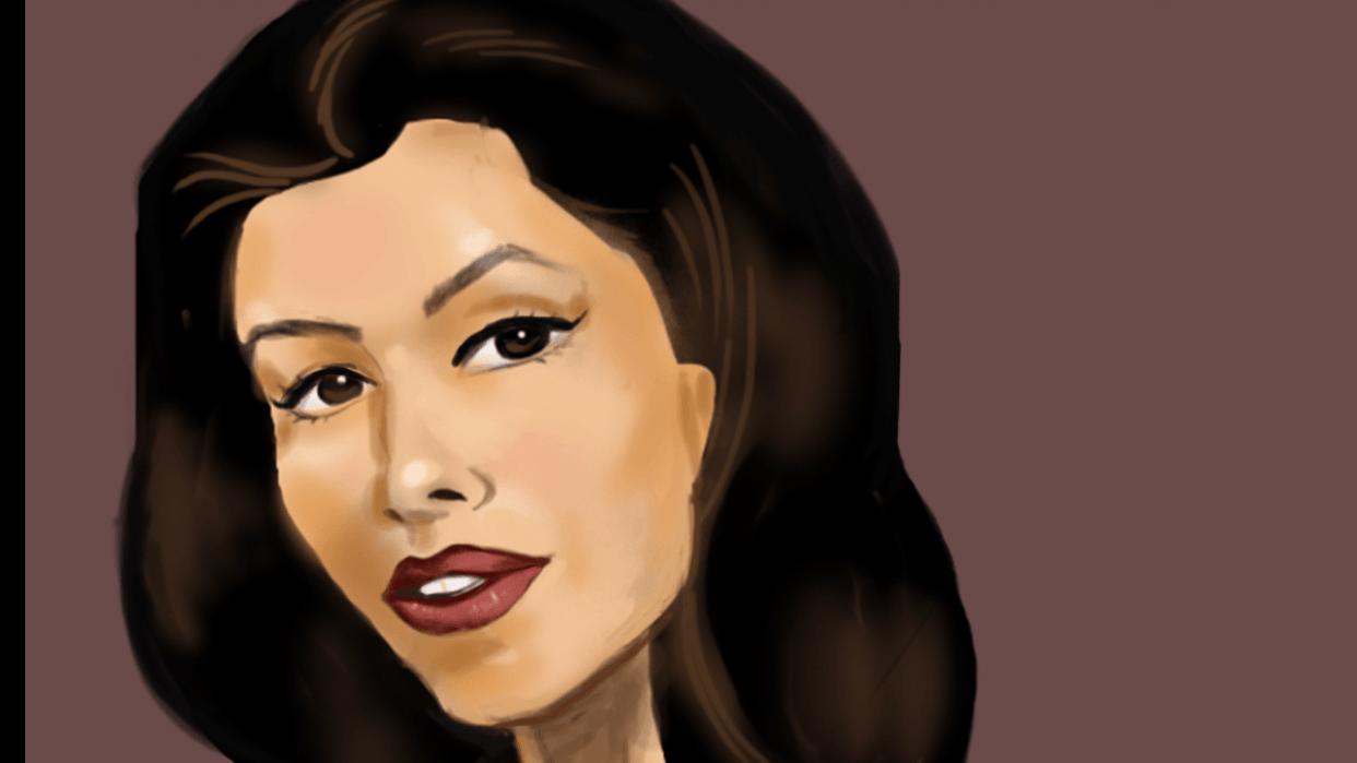 Portrait of Eva Longoria - student project