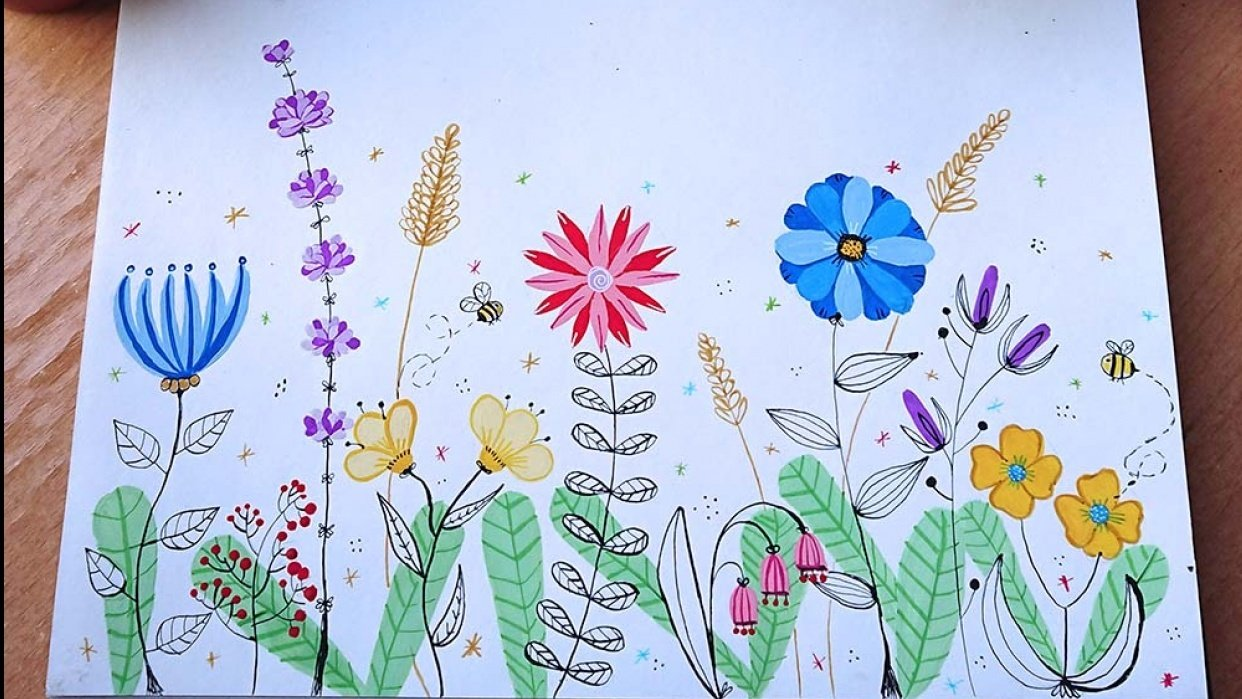 My flower meadow - student project