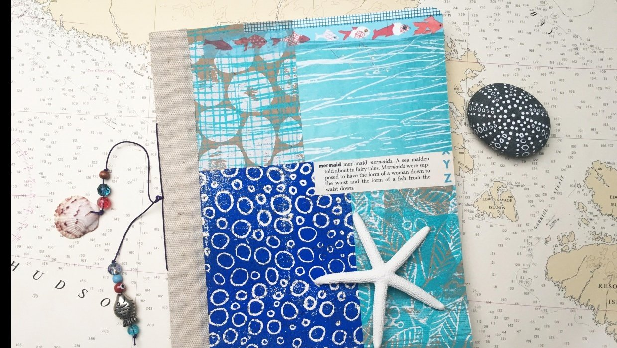 Mermaid themed Gypsy Journal - student project