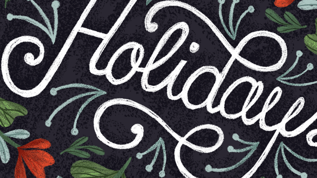 Hand Lettering for the Holidays - lesson No.2 - student project