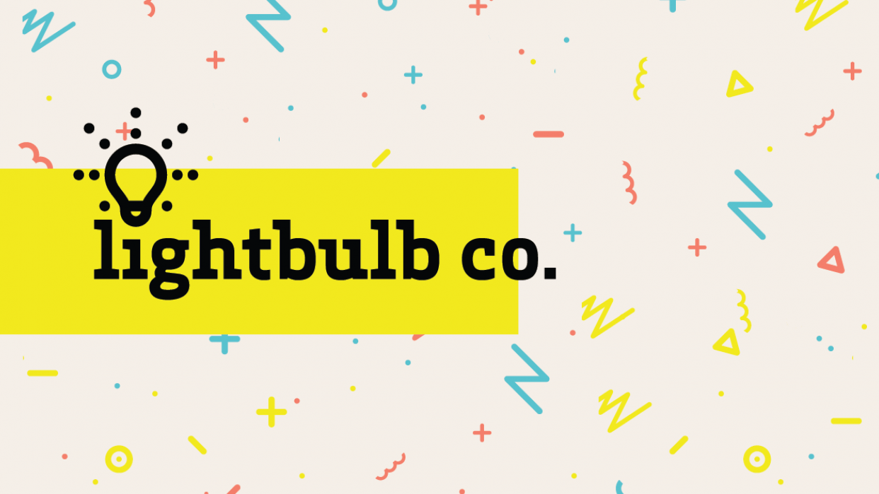Lightbulb co. Brochure - student project