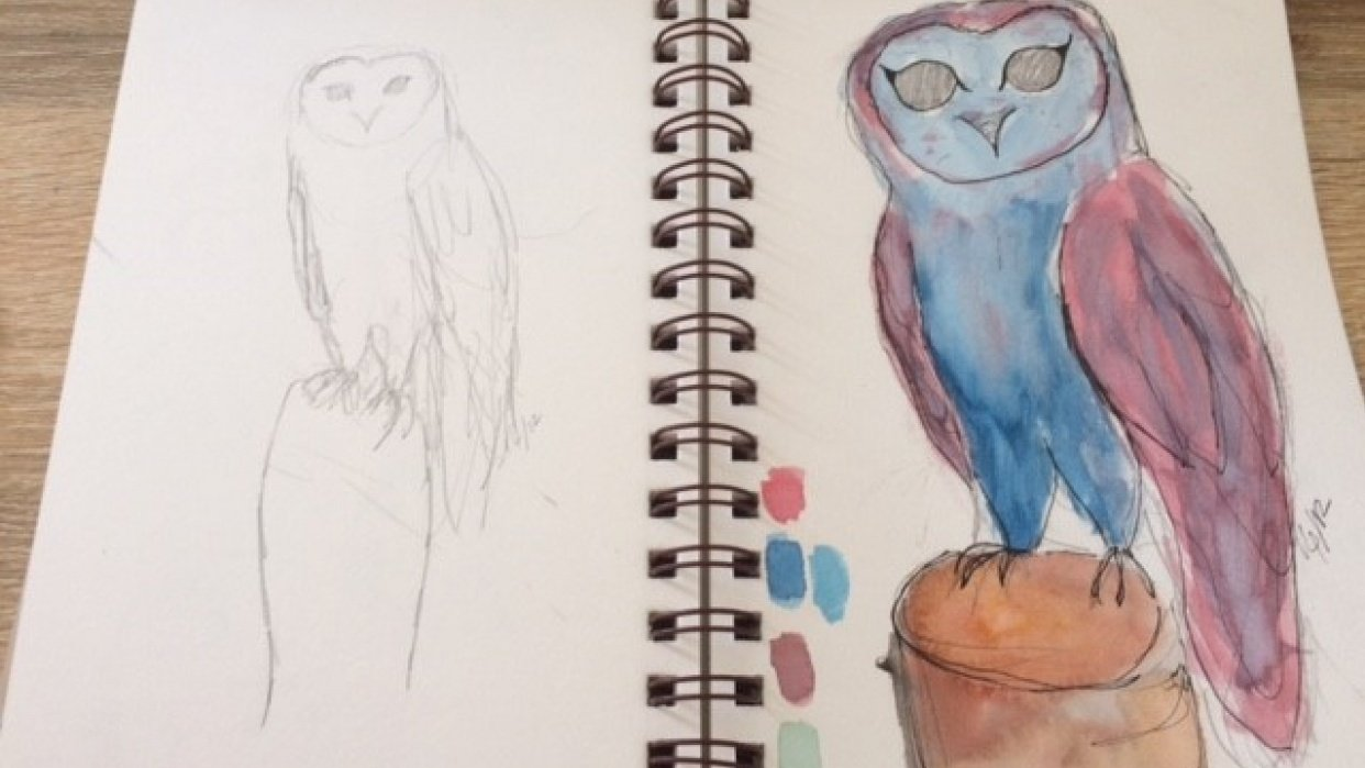 stylizing an owl - student project