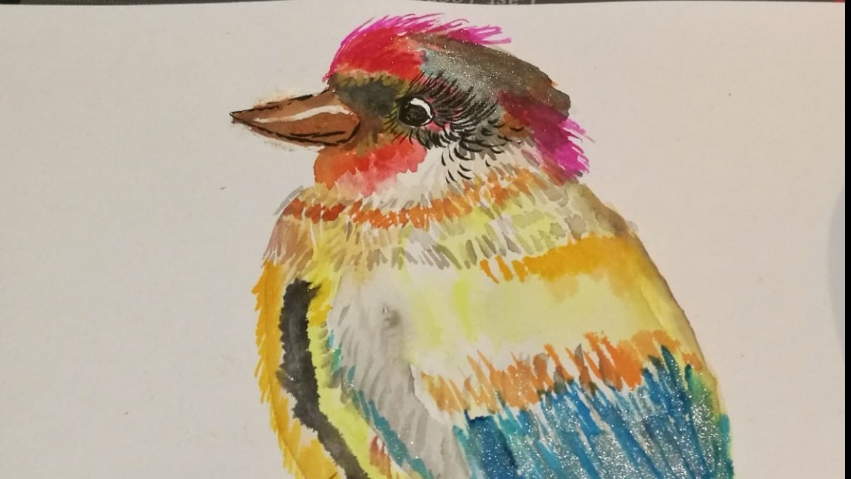 Sparkly Bird! - student project