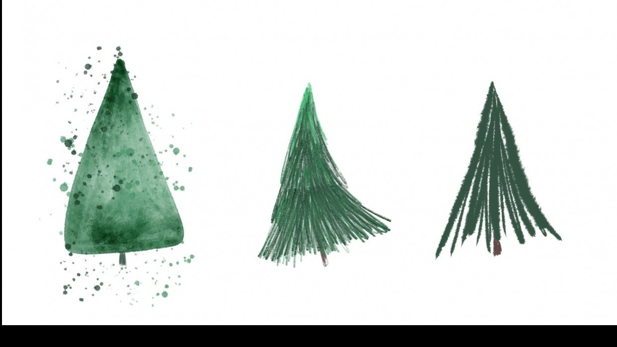 Trees! in varying styles - student project