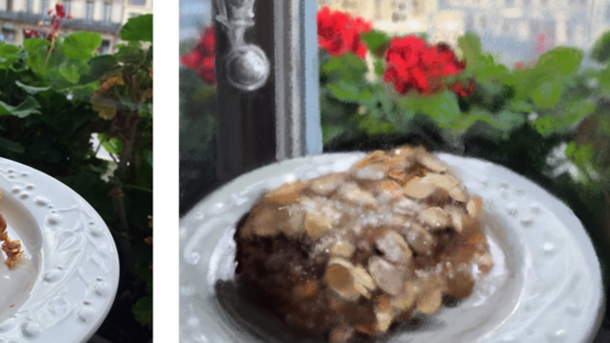 Almond croissant with a view - student project