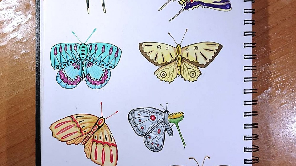 My butterflies - student project