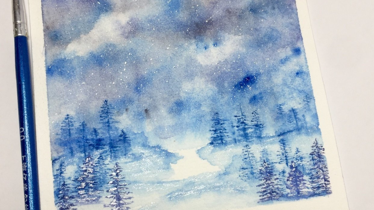 Winter landscape - student project