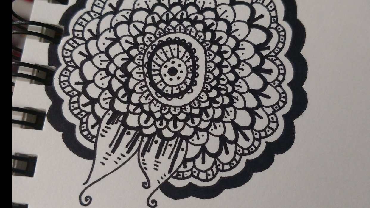 Start Of My Floral Doodle - student project