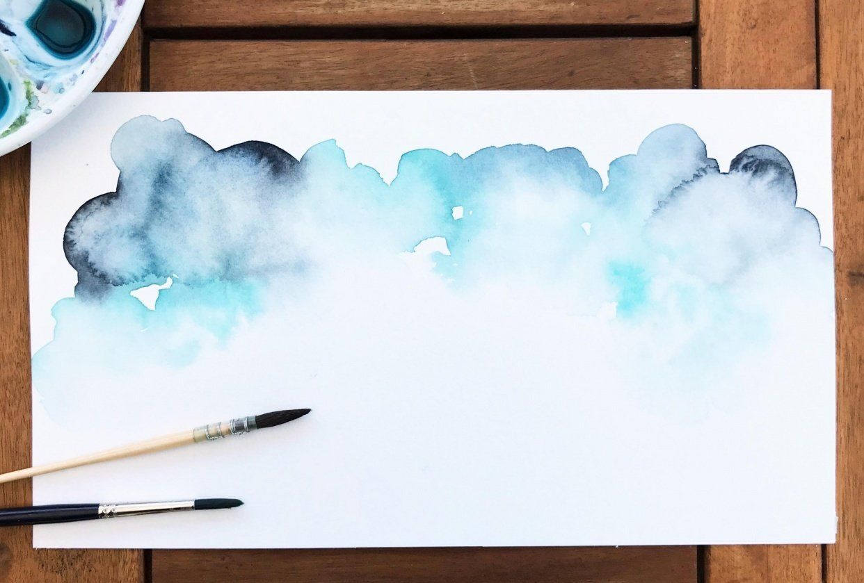 painting skies - student project