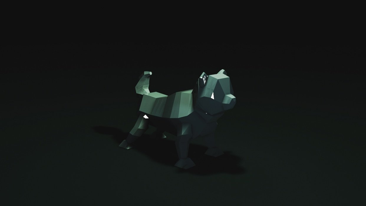 Low poly dog - student project