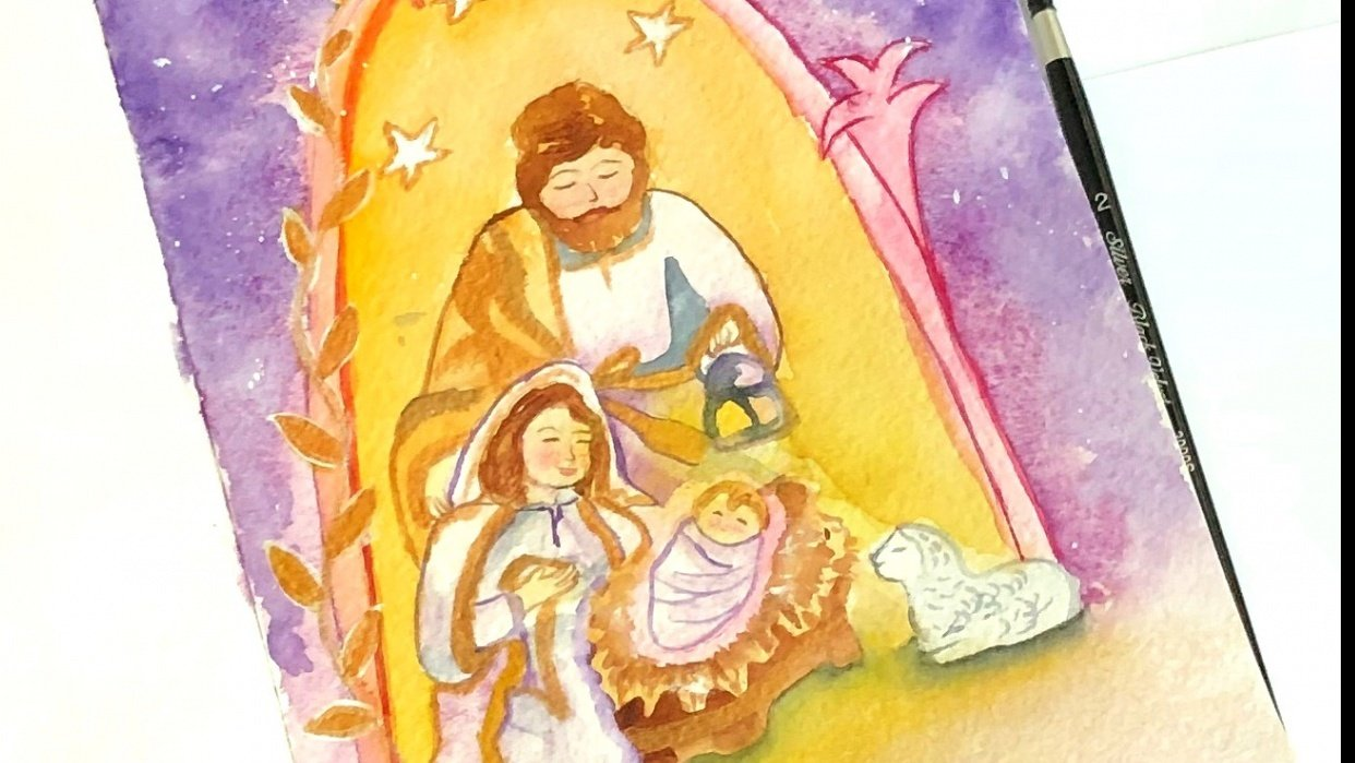 Nativity illustration - student project