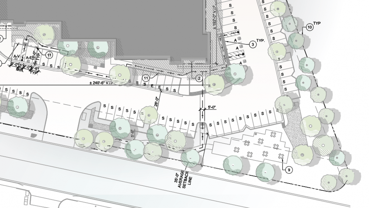 ARCHIECTURAL SITE PLAN - student project
