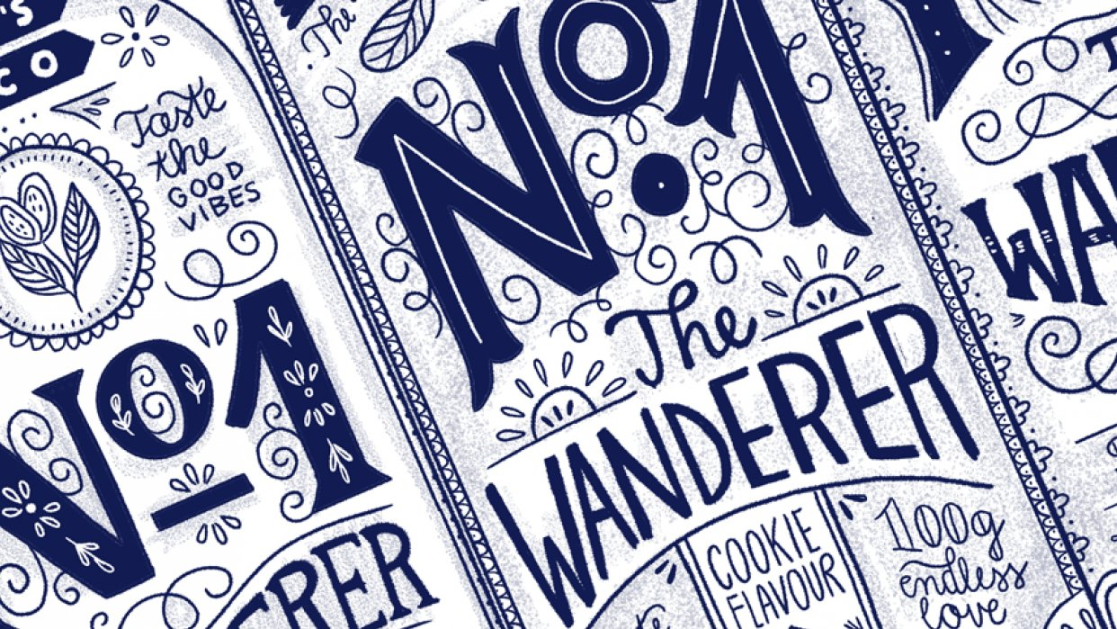 Hand Lettering for the Holidays - lesson No.3 - student project