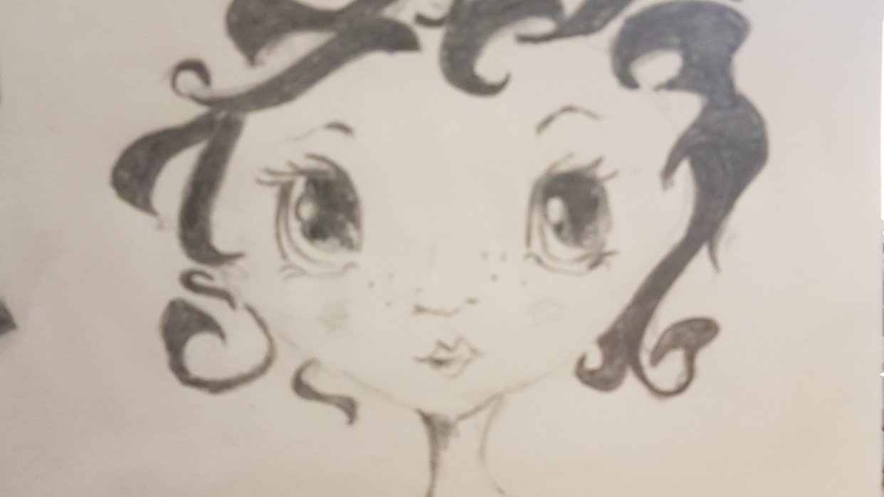 My first go at a cartoon face! - student project