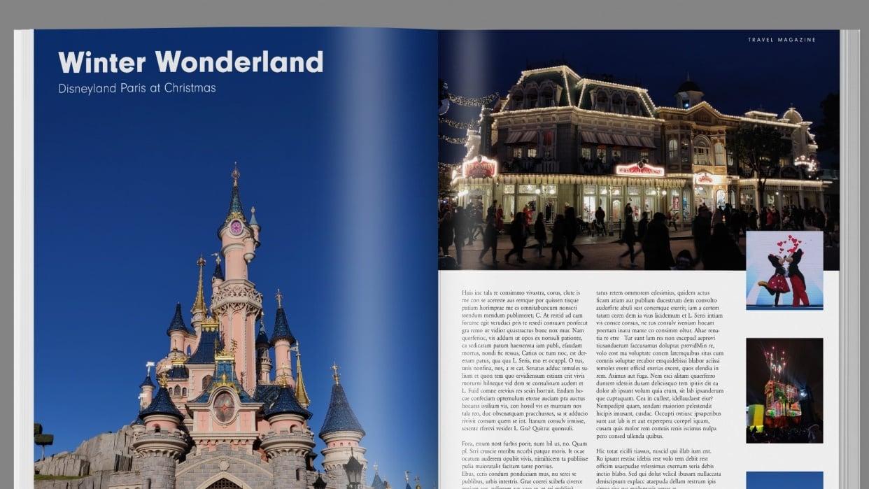 Magazine Layout - Disneyland Paris - student project
