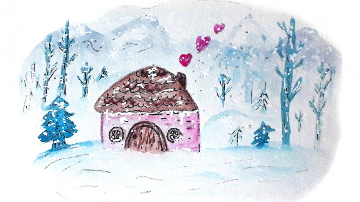 Watercolor Winter Illustrations - student project
