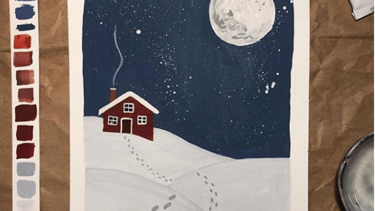 Winter illustration - student project