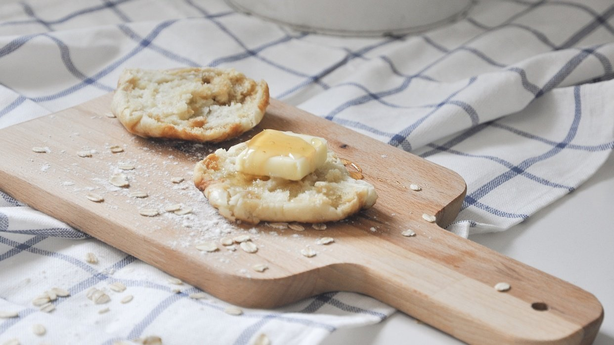 Homemade English Muffin - student project