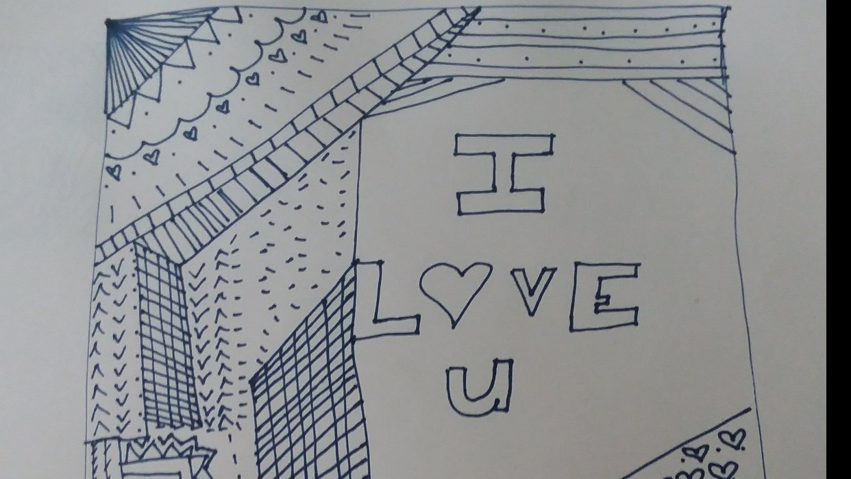 Doodle Art Class - student project