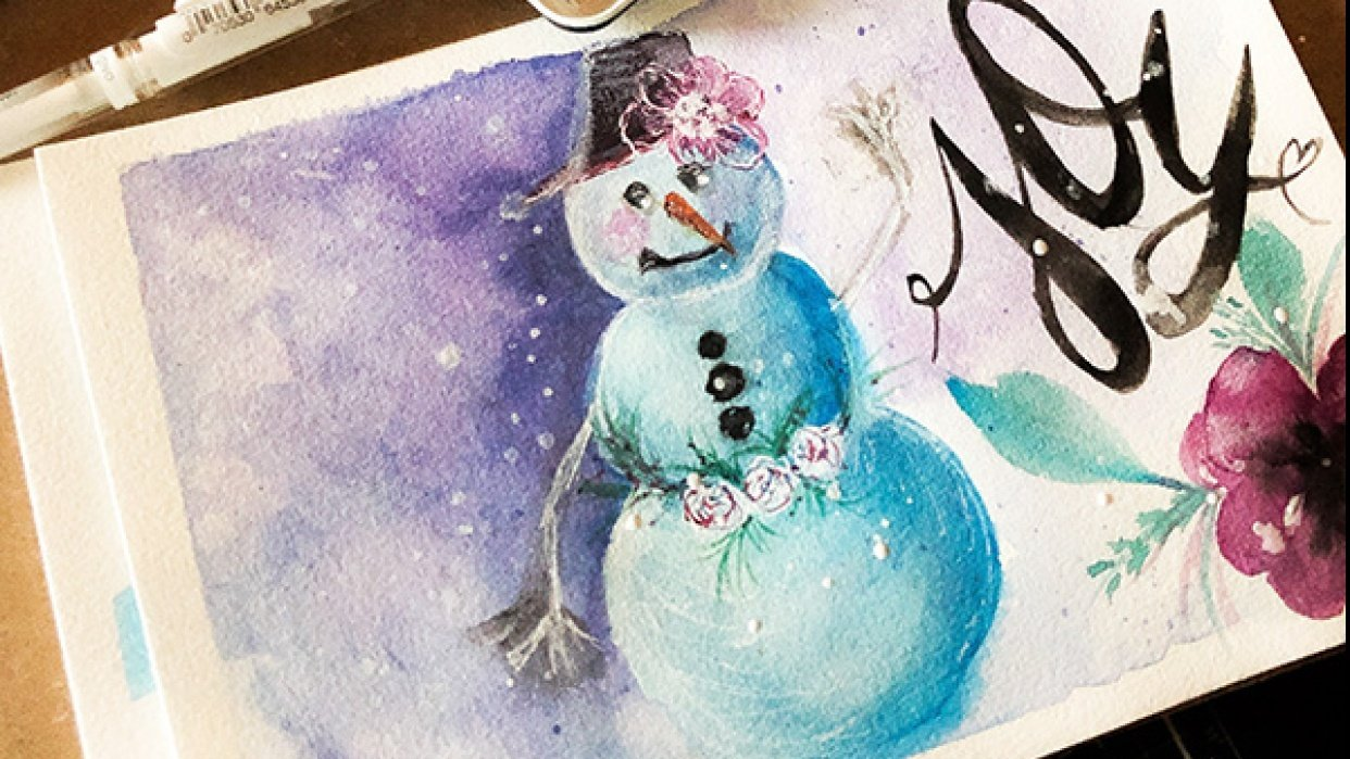 Fun and Easy Snowman with Jessica - student project