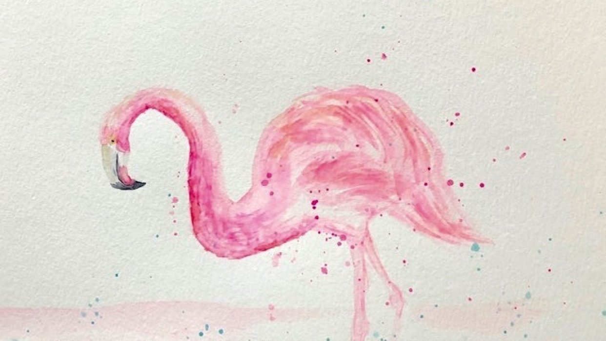 My Fun and Fabulous Flamingo - student project
