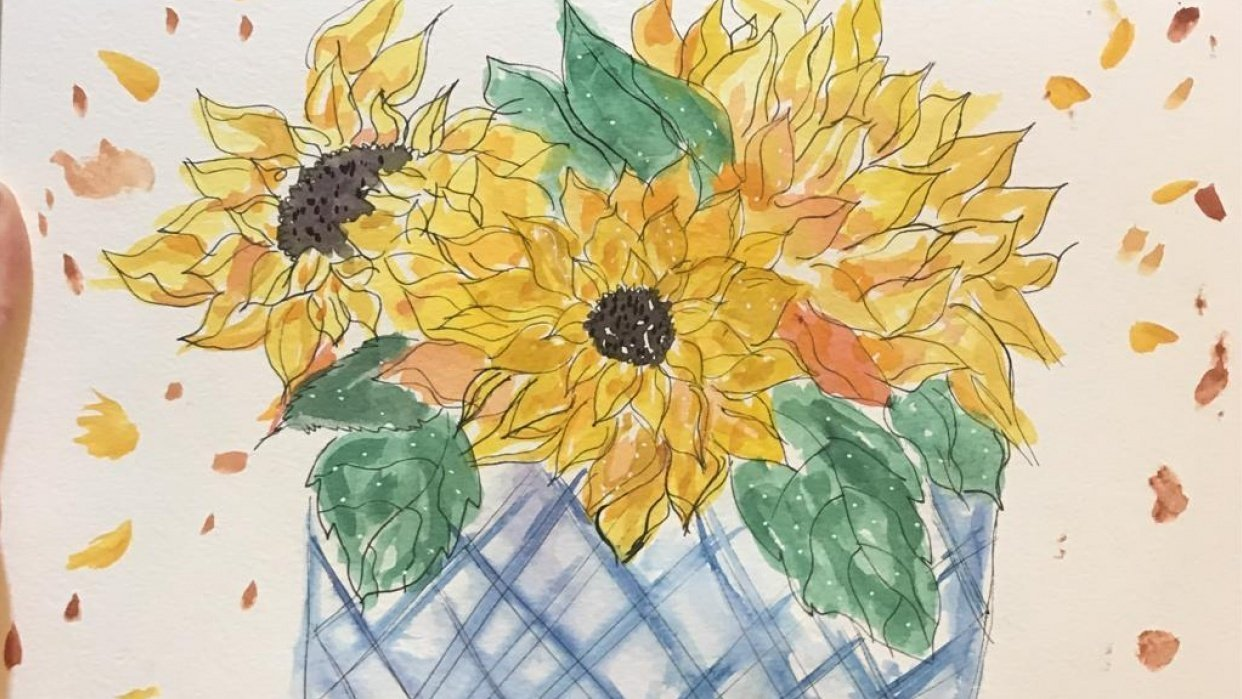 My Sunflower project - student project
