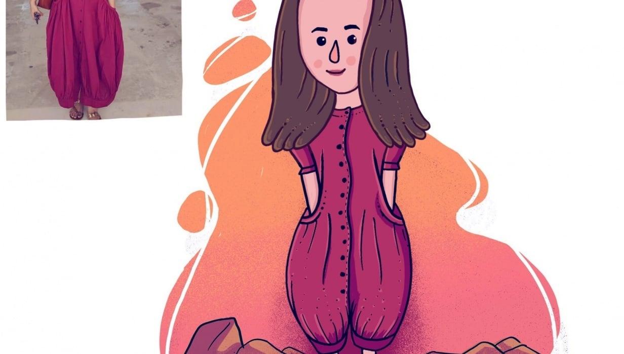 Cute Cartoon Caricature - student project