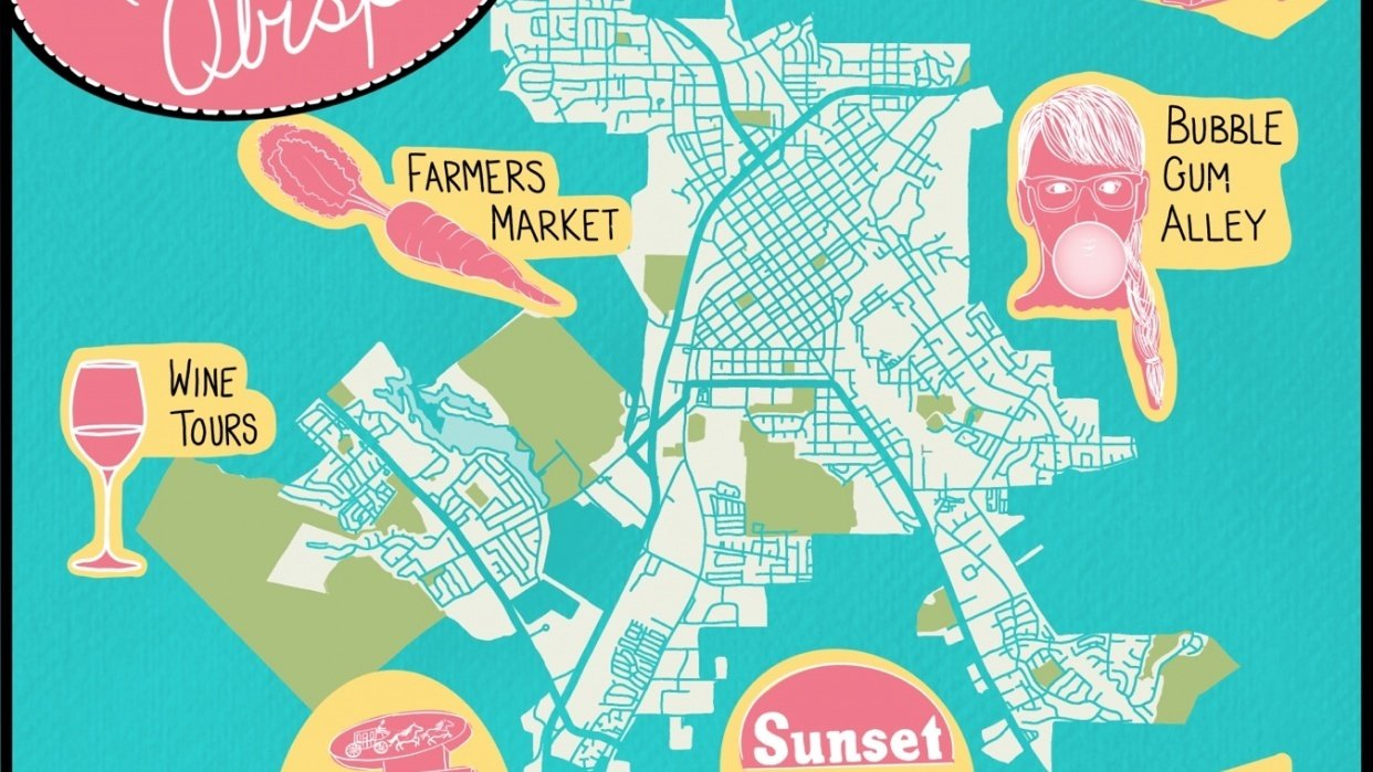 Map of San Luis Obispo. California - student project
